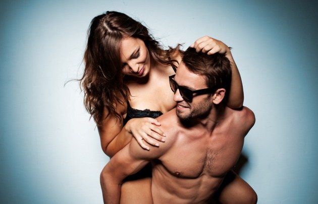 romantic couple in intimacy relations having fun